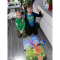 Adrian completed a jigsaw of the UK.