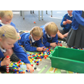 Repeating patterns with unifix cubes