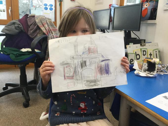 We drew plans of our castles!