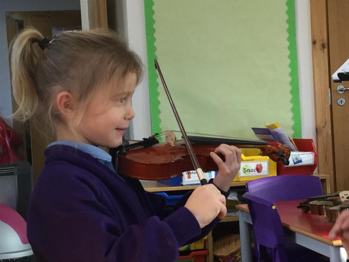 She told us about the violin.