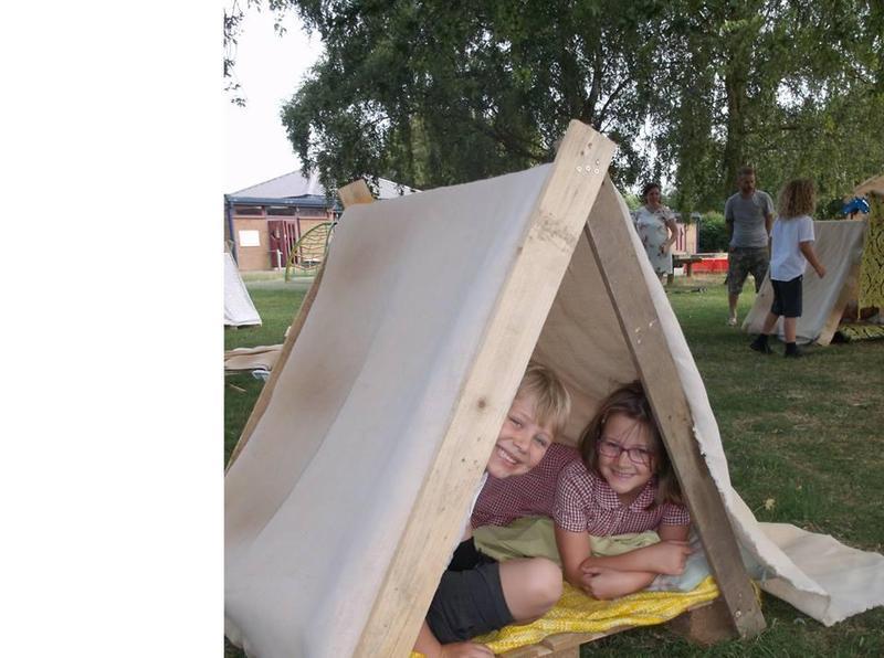 Huts made!