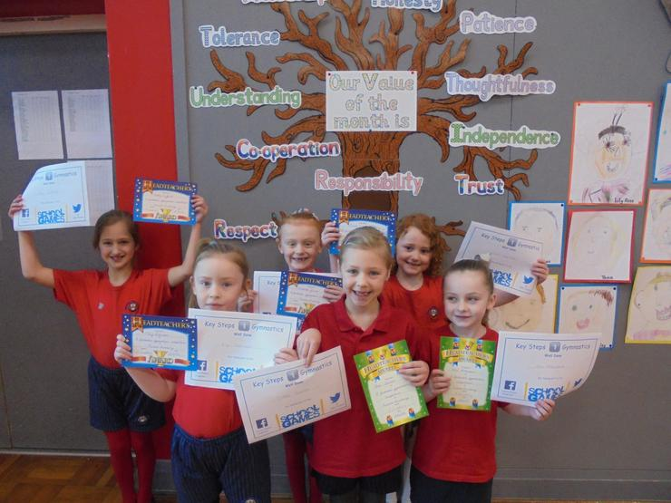 Team 1 with their certificates