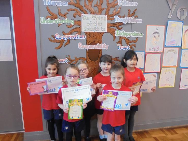 Team 2 with their certificates