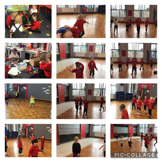 Our first PE lesson in reception with Tom
