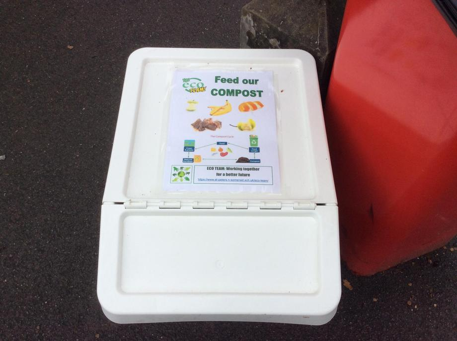 Look out for the compost boxes on the playground