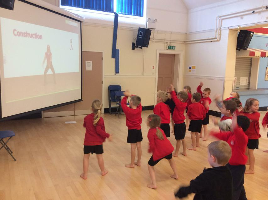 Learning to dance in our P E lessons.