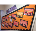 Year 3 - Painted Landscape Silhouettes, linked with History, Egypt