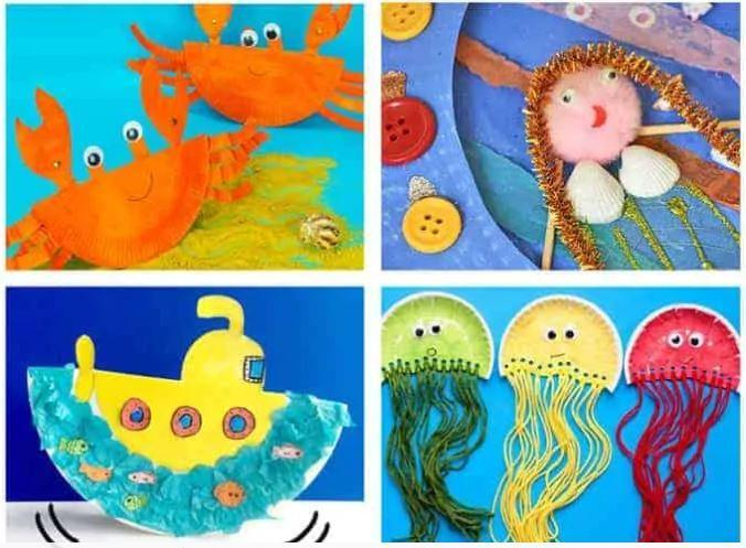 Have a go at making an ocean craft using a paper plate!