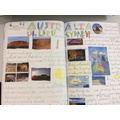 Year 2 - Uluru and Sydney double page spread