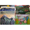 Year 6 - Layered Landscape Collage
