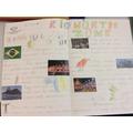 Year 2 - Rio North Zone double page spread