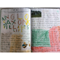 Year 4 - Anglo-Saxon Village double page spread