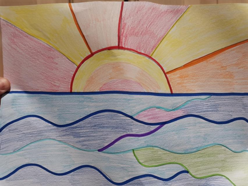 Activity - Use warm and cool colours to create your own sunset picture