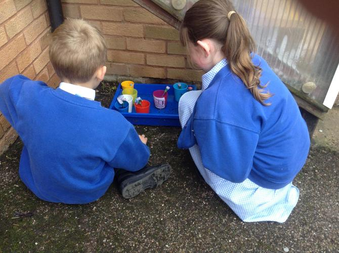 We kept checking on the flowers and recorded the results in a table.
