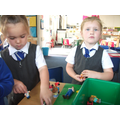 Imaginative play with small toys