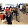 Dressing up as a Roman was really funny!