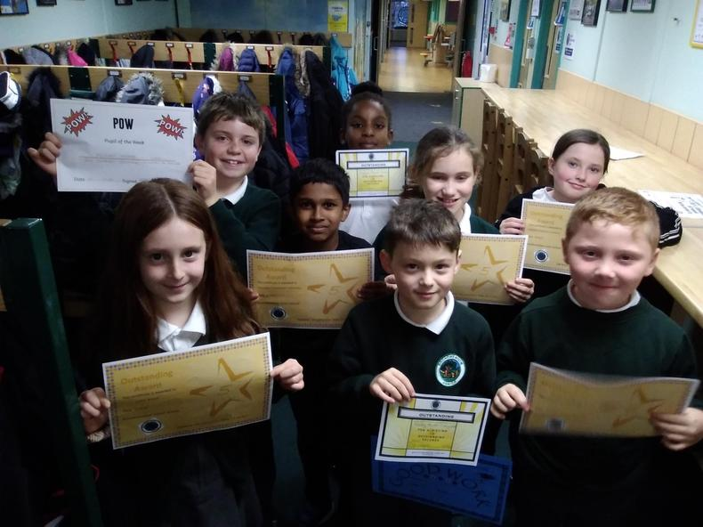 We had 5 children with 5 Outstanding awards last week! Amazing!