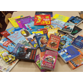 A selection of the books the school received