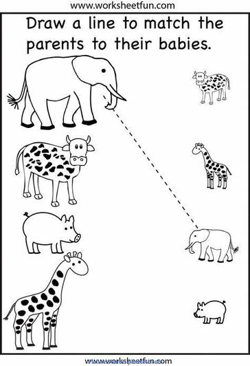 Can you match up the big animals to their young?Let us know how you get on via SEESAW!