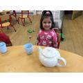 Making tea for Mr Bear.