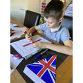 Theo getting ready for VE Day