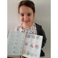 Sienna with her great Maths