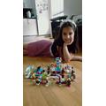 Ella and her lego creation!