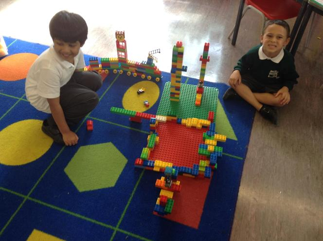 Hamza and Grayson were very proud of their creation!