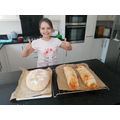 Jasmine bread baking, looks delicious