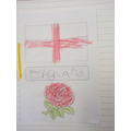 Parker has been working well to show the English Flag