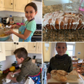 Evie and her brother baking