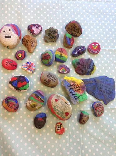Inspiration from Oxhey Rocks...kindness rocks!