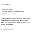 Evie's sentences