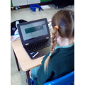 Learning to log on to Google Classroom.