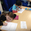 Writing a book review about our favourite book.