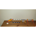 Ibrabim created his obstacle course using knex.