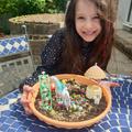 Una has created her own garden
