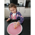 Sienna and her science experiment