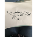 Natural History Museum - drawing a dinosaur