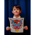 Chinese Dragon Colouring In