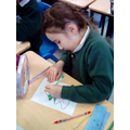 Colouring Christmas Tree and Snowman images.
