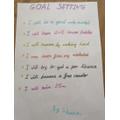 Sienna's goals for Year 3