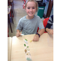 Making our own nature bookmarks