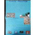 Jasmine researched about plastic pollution