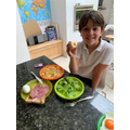 Theo made lunch