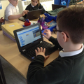 Creating an animated character using Scratch.
