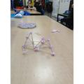 Triangular structure.