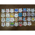 Super Hero Badges with images of things that make the children feel happy.