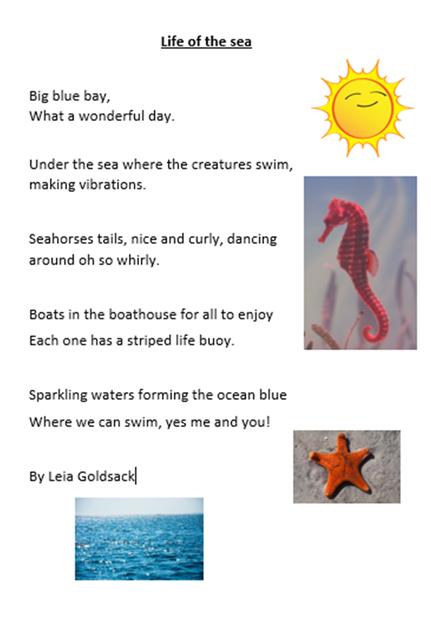 Leia has written a sensational seaside poem