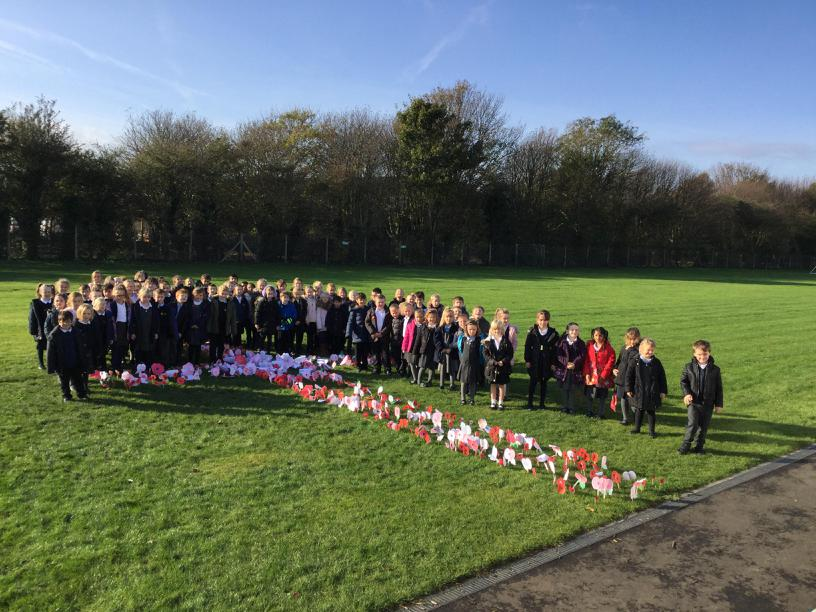 Remembrance Day at Bromstone School.